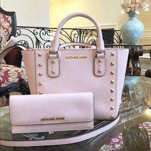 NWT Michael Kors Sandrine Studded handbag&wallet